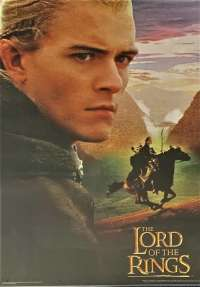 Lord Of The Rings Poster One Sheet Repint Legolas Laminated
