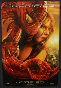 Spiderman 2 Movie Poster Original One Sheet USA Advance Toby Macguire