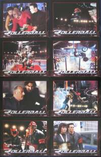 Rollerball 2002 Lobby Card Set USA Original 11x14 Chris Klein Jean Reno