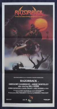 Razorback Movie Poster Original Daybill 1984 Gregory Harrison Bill Kerr