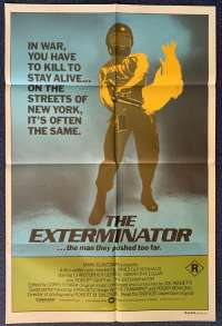 The Exterminator Poster Original One Sheet 1980 Robert Ginty Vigilante