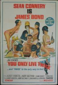 You Only Live Twice Sean Connery James Bond One Sheet Australian movie poster