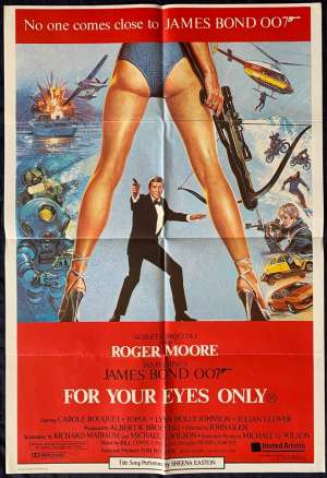 For Your Eyes Only Poster Original One Sheet 1981 Roger Moore James Bond