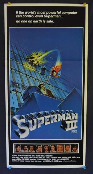 Superman 3 Movie Poster Original Daybill 1983 Christopher Reeve Richard Pryor