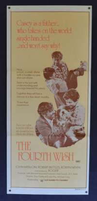 Fourth Wish, The 1976 movie poster John Meillon Australian Daybill