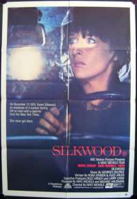 Silkwood One Sheet Australian Movie poster