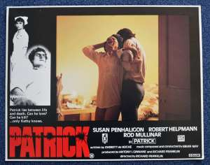 Patrick 1978 Lobby Card No.6 Rare Ozploitation Robert Helpmann