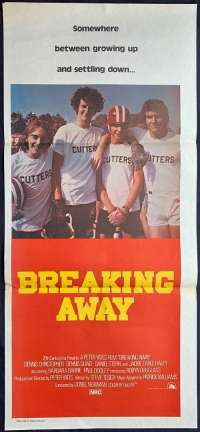 Breaking Away 1979 movie poster daybill Bicycle Racing Dennis Quaid