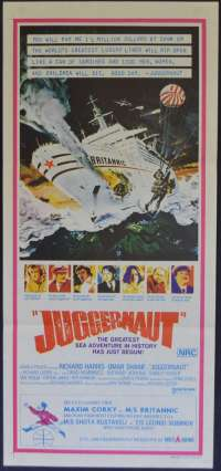 Juggernaut Poster Original Daybill 1974 Richard Harris Anthony Hopkins