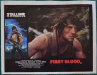 First Blood Lobby Poster Original 11x14 No.1 Sylvester Stallone Rambo