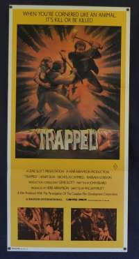 Trapped Movie Poster Original Daybill 1982 Slasher Horror aka Baker County, U.S.A. Killer Instinct