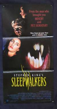 Sleepwalkers 1992 Rare Daybill movie poster Brian Krause Stephen King