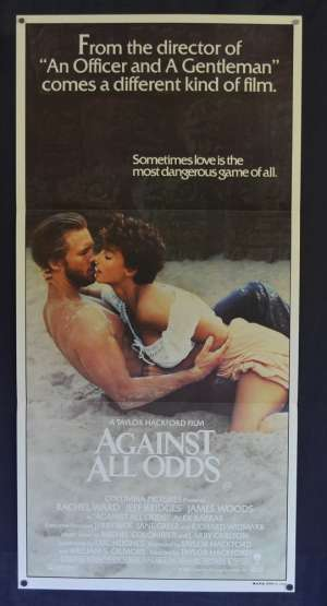 Against All Odds Movie Poster Original Daybill 1984 Jeff Bridges Rachel Ward