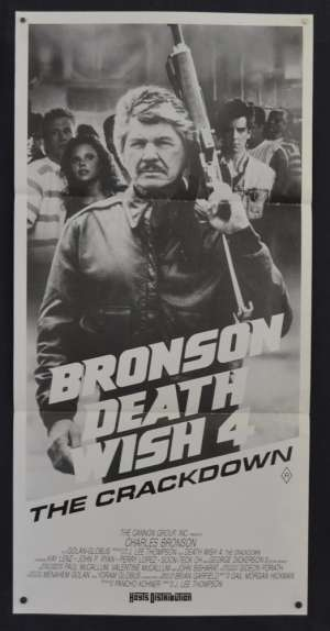 Death Wish 4 Movie Poster Original Daybill Charles Bronson Vigilante