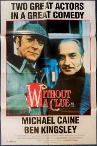 Without A Clue Poster Original One Sheet 1988 Michael Caine Sherlock Holmes