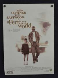 A Perfect World 1993 Clint Eastwood Kevin Costner Hand Bill movie poster