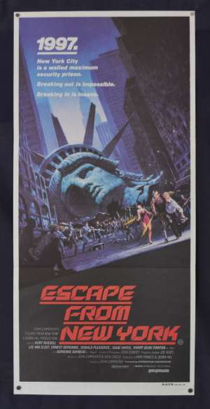 Escape From New York Movie Poster Original Daybill Kurt Russell John Carpenter