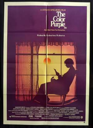 The Color Purple Movie Poster One Sheet Whoopi Goldberg Oprah Winfrey Steven Spielberg
