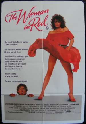 The Woman In Red One Sheet Poster 1984 Gene Wilder  Kelly LeBrock