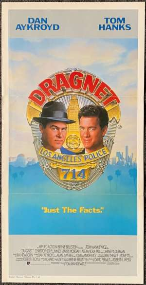 Dragnet Poster Original Daybill 1987 Tom Hanks Dan Aykroyd Cops