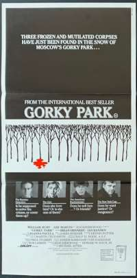 Gorky Park Poster William Hurt Australian Daybill Movie poster