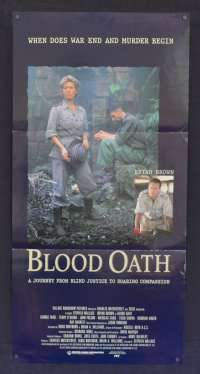 Blood Oath 1990 aka Prisoners Of The Sun Daybill poster Bryan Brown Russell Crowe