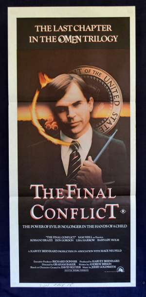 The Final Conflict Movie Poster Original Daybill Sam Neill Omen 3
