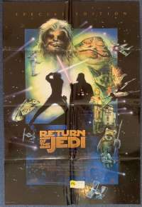 Return Of The Jedi Poster Original USA International One Sheet 97 Special Edition