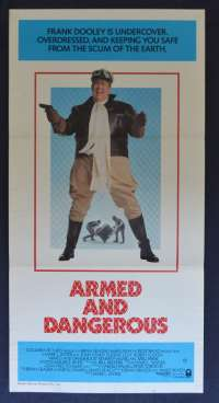 Armed And Dangerous Daybill Movie poster John Candy