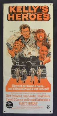 Kellys Heroes movie poster Clint Eastwood Daybill