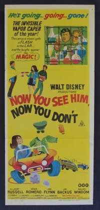 Now You See Him Now You Don't Poster Original Daybill 1972 Disney Kurt Russell