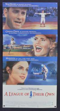 A League Of Their Own 1992 movie poster Daybill Tom Hanks Geena Davis Madonna