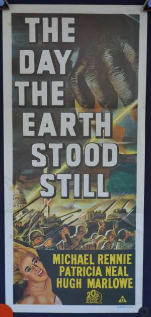 The Day The Earth Stood Still Daybill Poster 1970's Re Issue