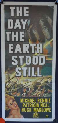 The Day The Earth Stood Still (1951) Daybill movie poster Daybill 1970's RI