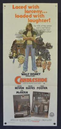Candleshoe Movie Poster Original Daybill Jodie Foster David Niven Disney
