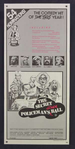 The Secret Policeman's Other Ball Movie Poster Original Daybill 1981 John Cleese Sting