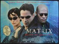 The Matrix 1999 British Quad movie poster Rare Keanu Reeves Laurence Fishburne
