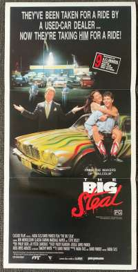 The Big Steal Poster Original Daybill Rare 1990 Ben Mendelsohn Claudia Karvan