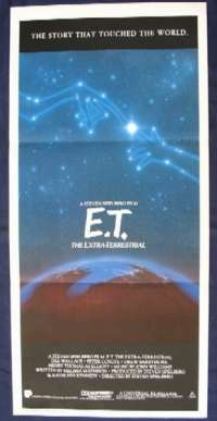 E.T. The Extra-Terrestrial movie poster Daybill 1985 RI