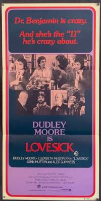 Lovesick movie poster Dudley Moore Daybill