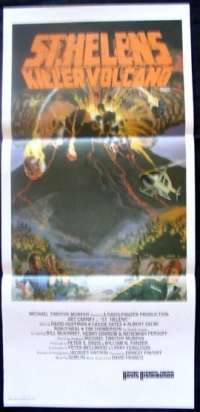 St. Helens Killer Volcano - Disaster Films Daybill Movie poster