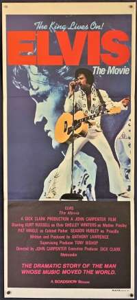 Elvis The Movie Poster Original Daybill 1979 Kurt Russell John Carpenter