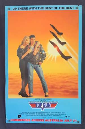 Top Gun Movie Poster Original Rolled Special Advance 1986 Tom Cat Jets