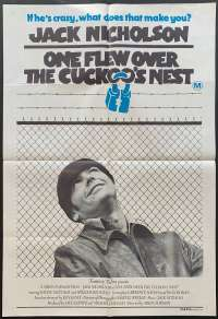 One Flew Over The Cuckoo's Nest 1975 One Sheet movie poster Jack Nicholson Different Art
