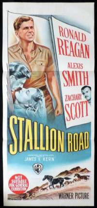 Stallion Road Poster Original Daybill 1947 Ronald Reagan Alexis Smith