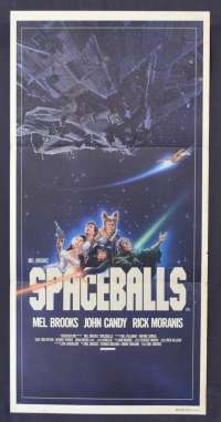 Spaceballs Movie Poster Original Daybill Mel Brooks John Candy Star Wars