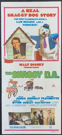 The Shaggy D.A. movie poster Original Daybill Dean Jones Disney
