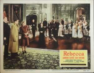 Rebecca 1940 Lobby Card No 6 Re-Issue 1956 Laurence Olivier Joan Fontaine