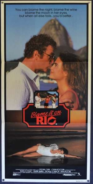 Blame It On Rio Poster Original Daybill 1984 Michael Caine Demi Moore Stanley Donen