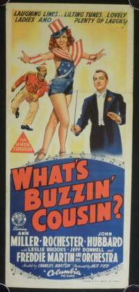 What's Buzzin Cousin? movie poster Ann Miller Daybill